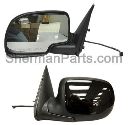 1999-2002 Chevrolet Silverado Pickup (Classic) Mirror Power LH W/Gloss Black Cover (P) Folding Silverado/Sierra 9 9-02