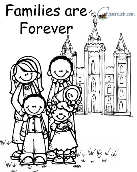 Families Can Be Together Forever Coloring Page Nursery