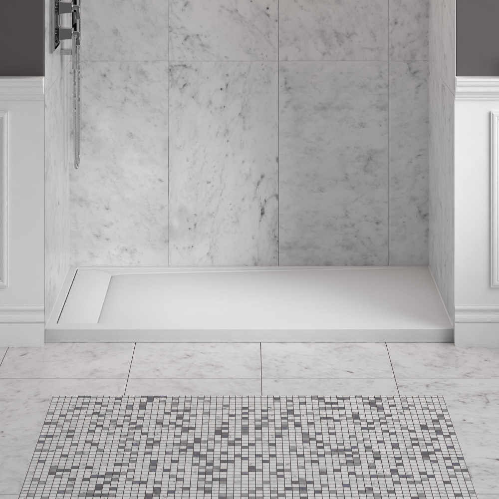 Best Custom Sized Solid Surface Shower Pan And Walls In 2020 400 x 300