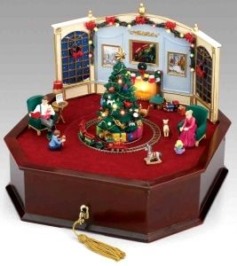 Animated Symphony Of Bells Musical Tabletop Decoration Mr Christmas Animated Music Box Made Of Wood And Polystone With