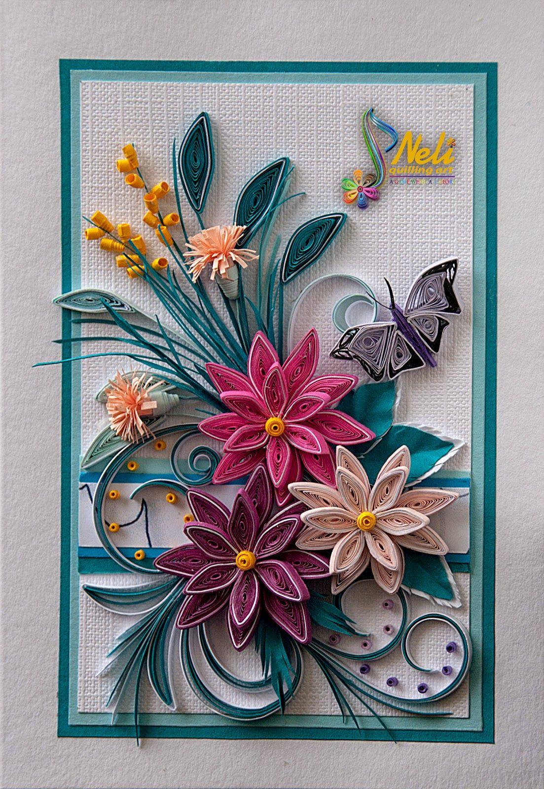 neli quilling art quilling card 14 8 cm 10 5 cm paper works pinterest papier. Black Bedroom Furniture Sets. Home Design Ideas