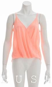Cool to be Crossed Crossover Spaghetti Strap Blouse - Coral