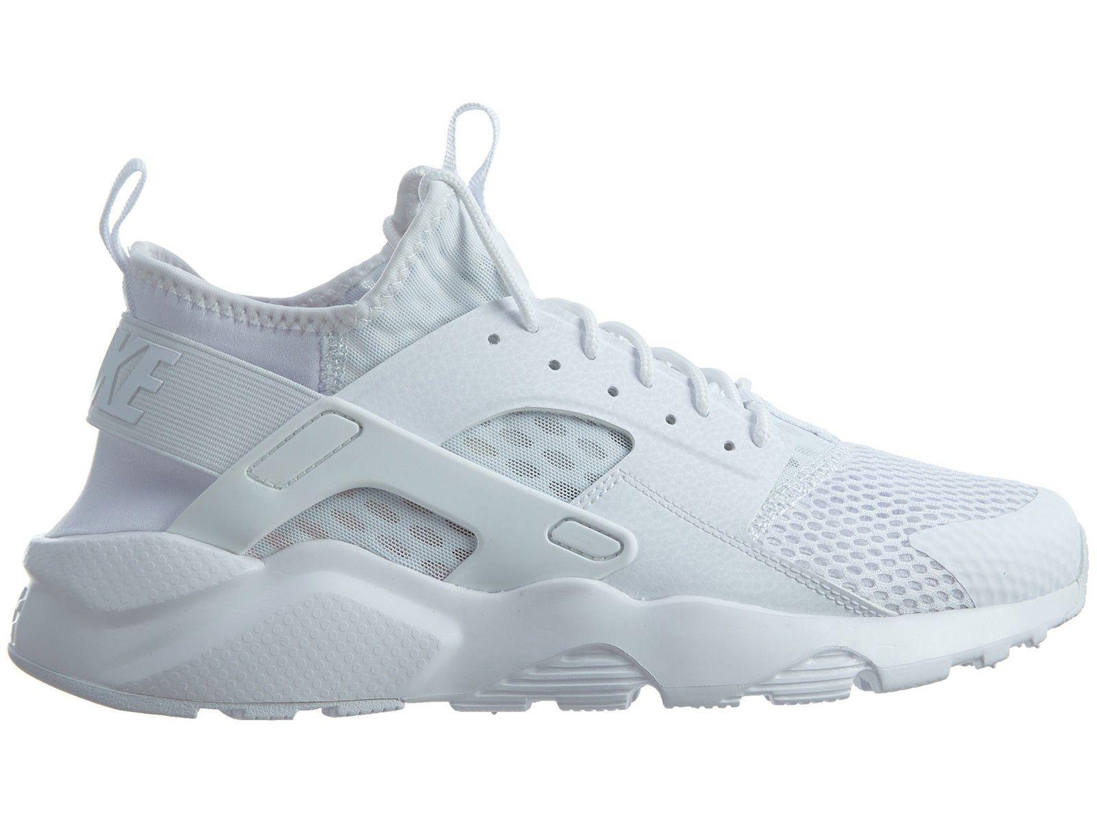 best service eae38 81e76 Nike Air Huarache Run Ultra BReathe Mens 833147-100 White Running Shoes Sz  10.5