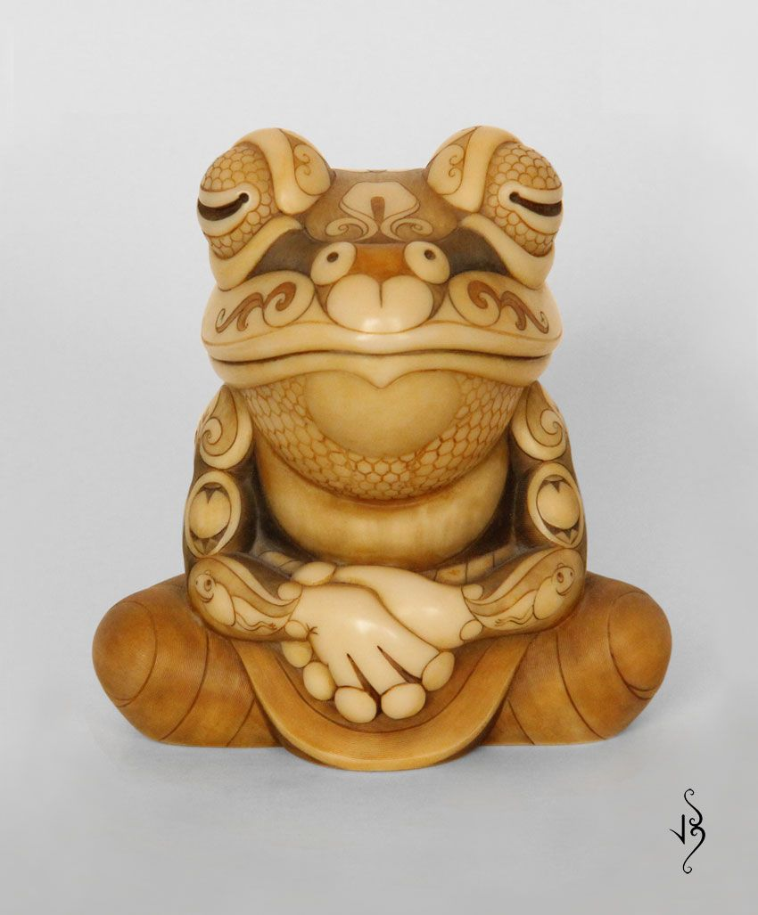 Pin By Alexander Bispo On Netsuke Frog Art Netsuke Frog Pictures