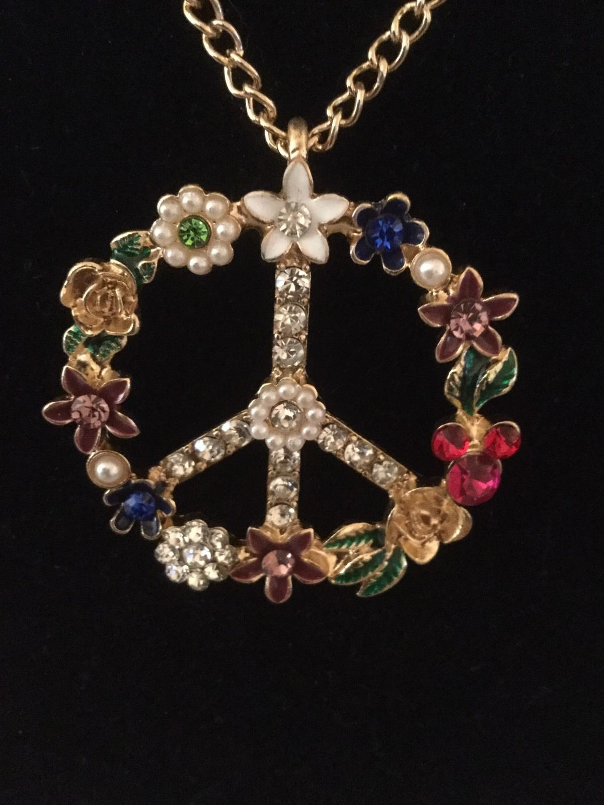 Betsey johnson huge peace sign pendant ebay jewelry pinterest betsey johnson huge peace sign pendant ebay mozeypictures Image collections