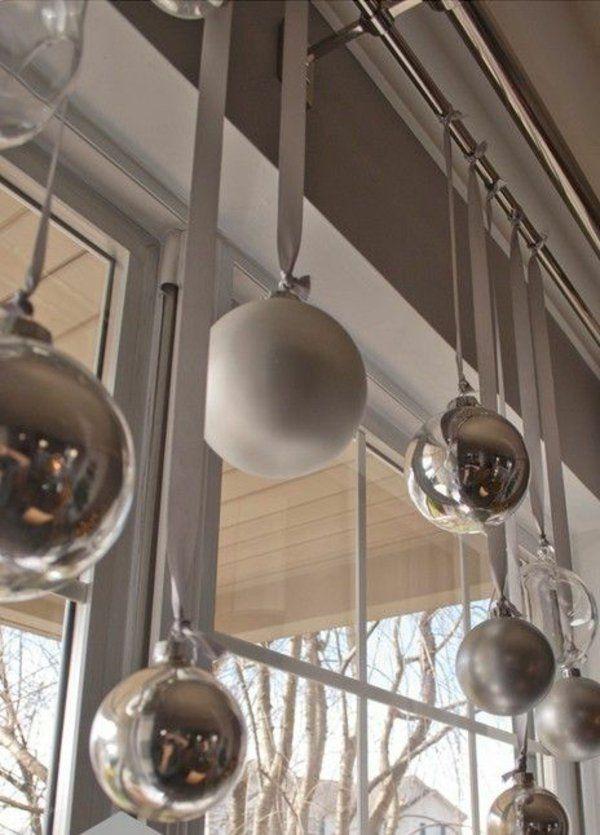 Kreative Ideen für eine festliche Fensterdeko zu Weihnachten - weihnachtswanddeko basteln