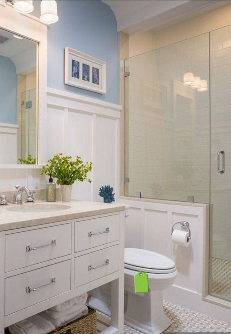 40 Cute Small Bathroom Tub Shower Remodeling Ideas Small Master Bathroom Coastal Bathroom Design Small Bathroom
