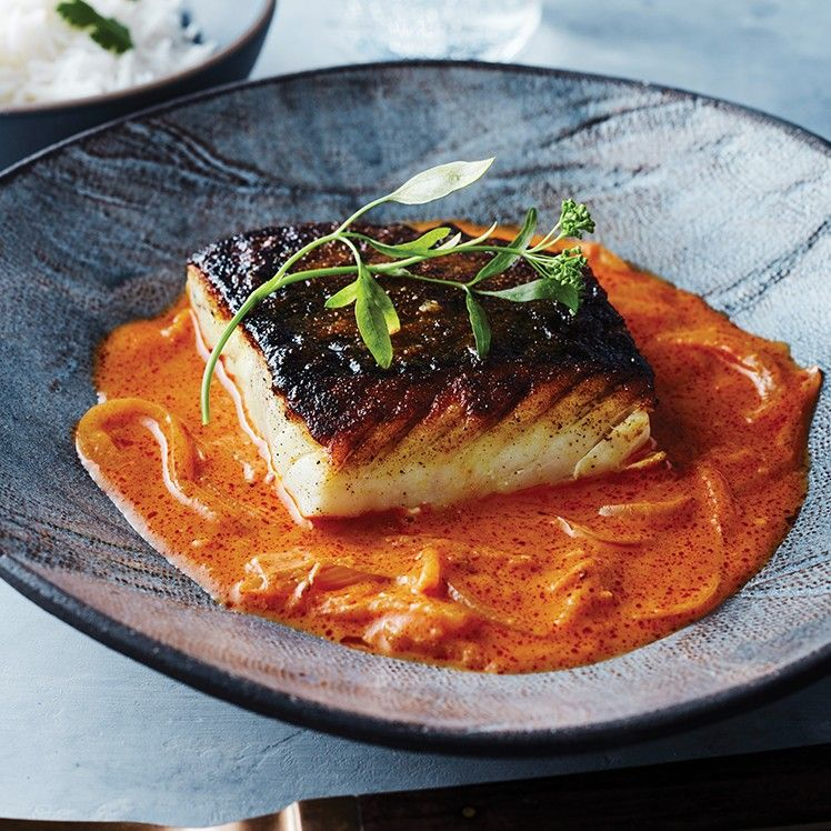 Pan Roasted Stone Bass With Buttermilk Curry Recipe Fish Recipes Roasting Pan Roast
