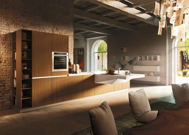 Interior Kitchen Designs with Luxury Kitchen Cabinets