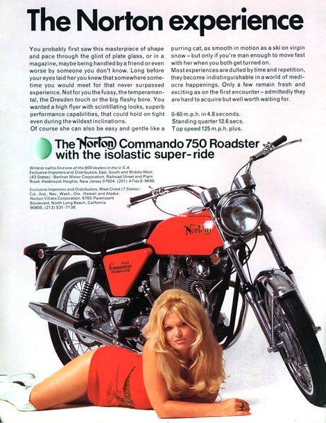 Norton Commando 750 #sexonomarketing #advertising #publicidade #marketing #campaign #campanha #sexo #sensualidade #nudez #sedução #seduction #sexy #nude
