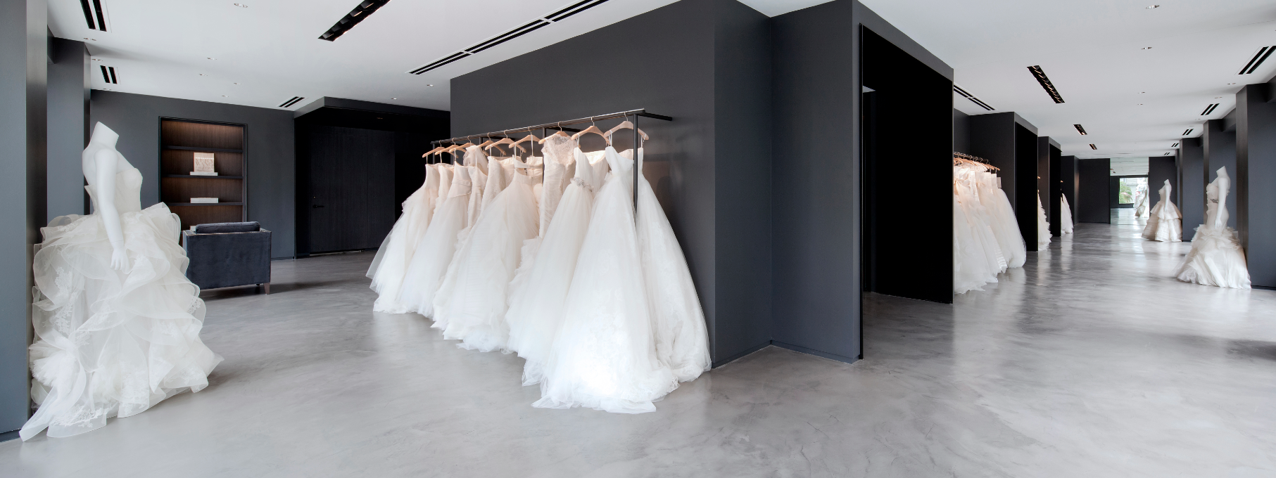 8b727d88fe220 Is it just us or are the dresses glowing?   Vera Wang Flagship ...