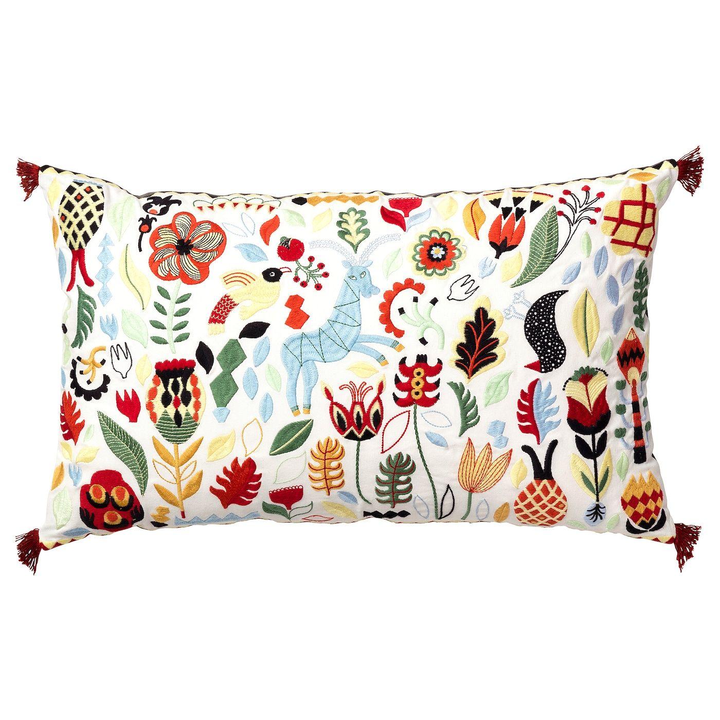 """Cushion, multicolor, 16x26 """" Cushions ikea, Traditional"""