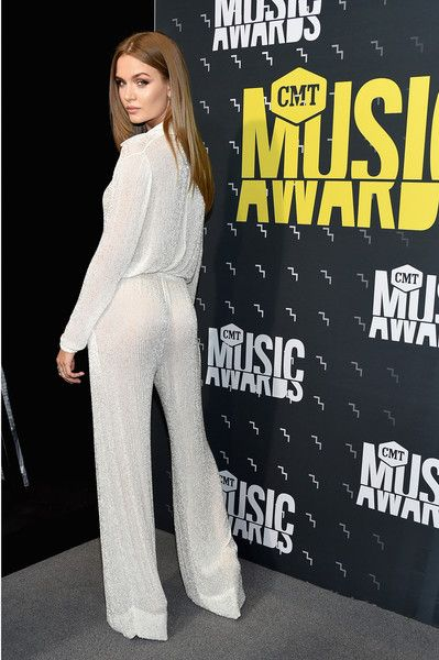 Danish model Josephine Skriver attends the 2017 CMT Music Awards at the Music City Center on June 7, 2017 in Nashville, Tennessee.