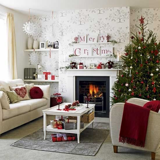 Pin By House 33 On Have A Holly Jolly Christmas Christmas Decorations Living Room Christmas Living Rooms Christmas Interiors