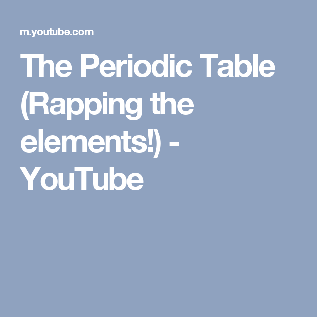 The periodic table rapping the elements youtube mcats the periodic table rapping the elements youtube urtaz Images