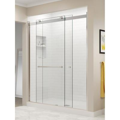 Langham 48 X 77 5 Completely Frameless Sliding Shower Door W