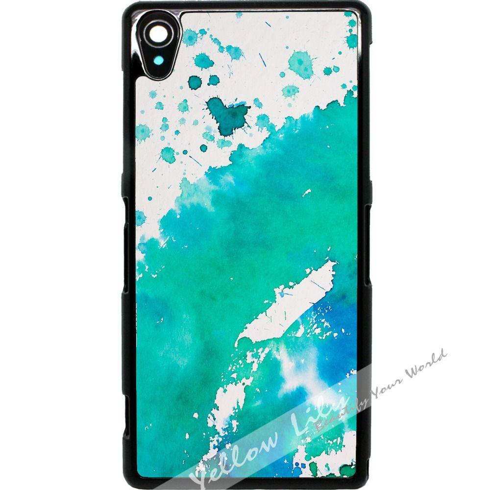 classic fit 5c240 97f00 8.99AUD - For Sony Xperia Z2 Case Phone Cover Aqua Watercolour ...