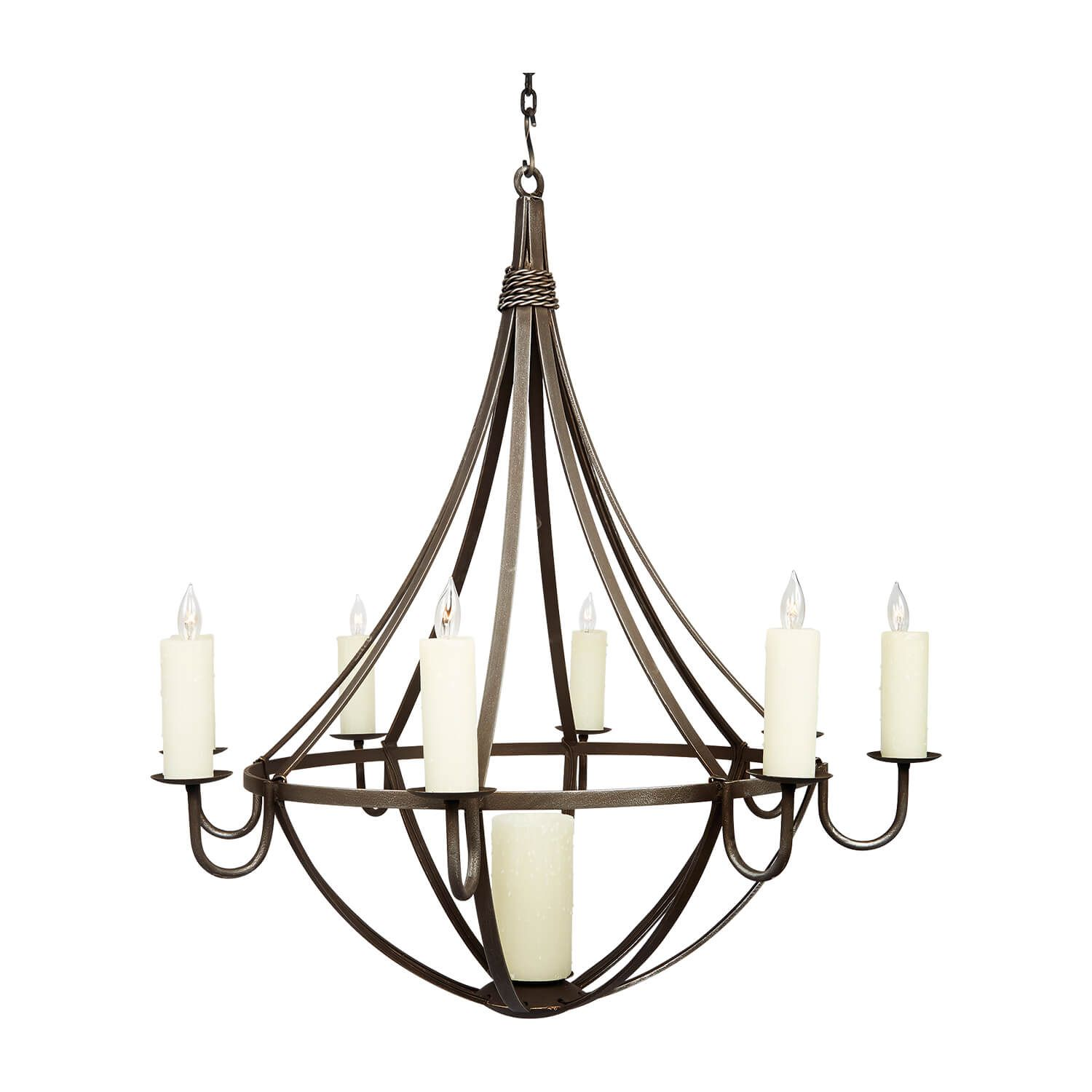 Small Banks Wrought Iron Chandeliers Traditional Chandelier