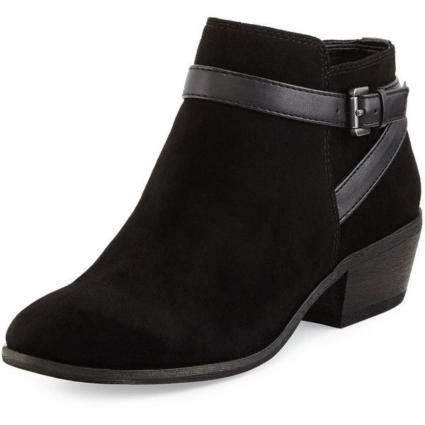 cc2eac90b Sam Edelman Pirro Suede Bootie ( 109) ❤ liked on Polyvore featuring shoes