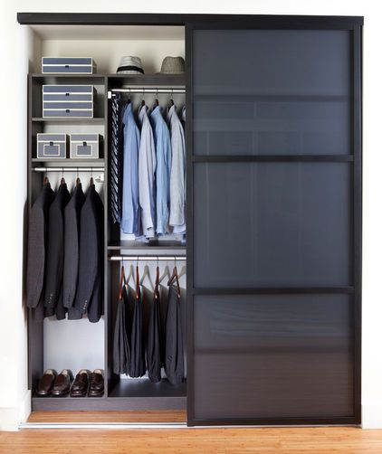 Sleek Reach In Closet Small Closets Receive The Most Benefit From  High Minded Design. Here A Cool Sliding Door Helps Conceal A Perfectly  Organized Space.