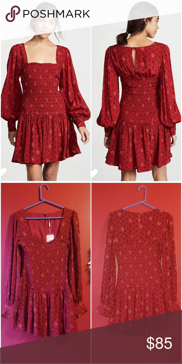 c99ed035fd3a81 NWT Free People Two Faces Mini Dress Brand new with tag! Size  Small Color