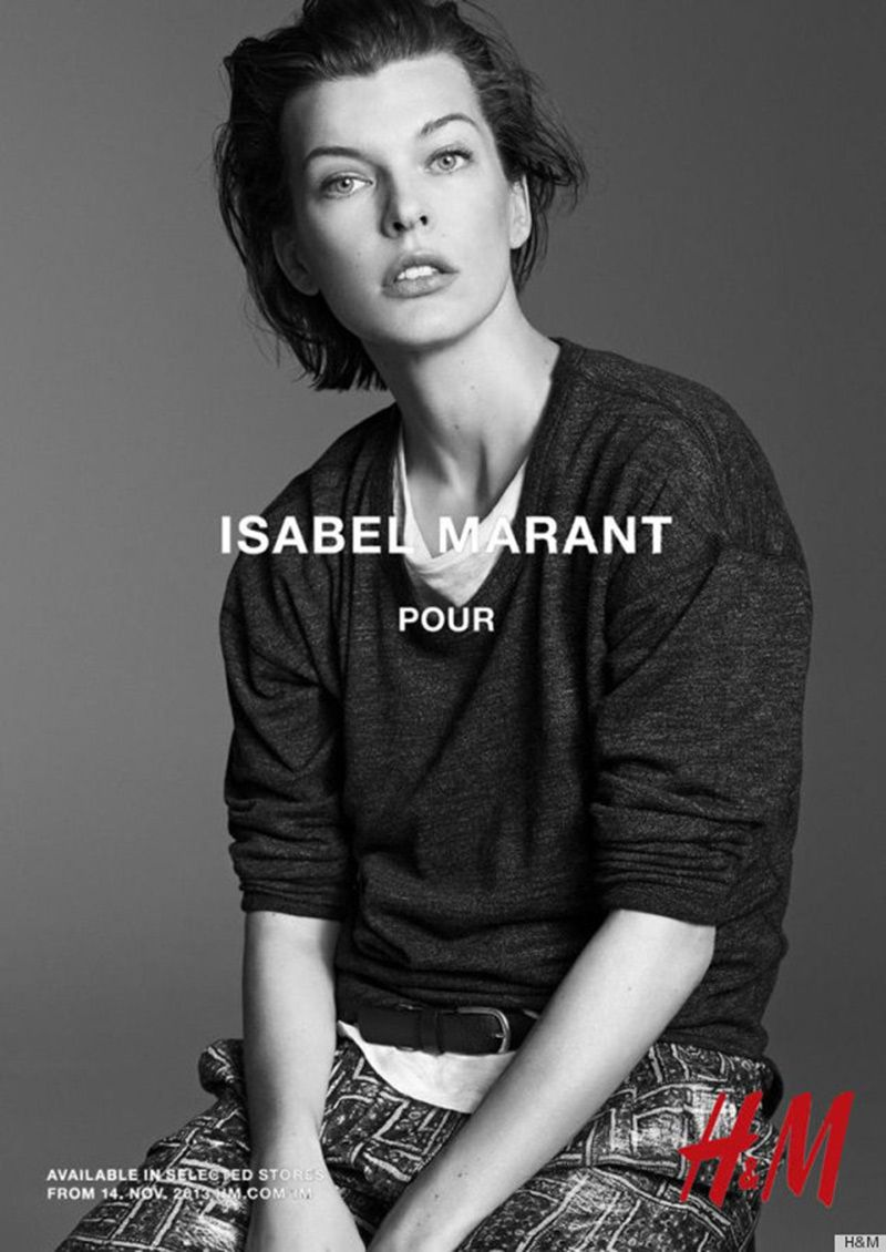 Milla Jovovich by Karim Sadli - Isabel Marant for H&M Campaign