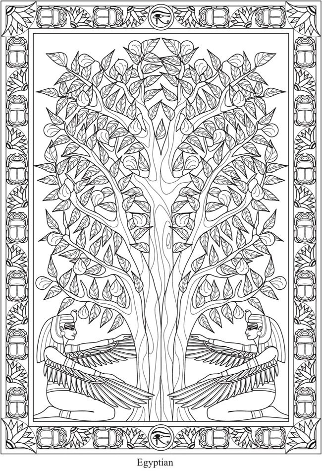 Creative Haven Trees of Life Coloring Book -- 4 sample pages ...