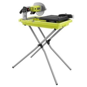 Mobile Ryobi Tile Saw Steel Tiles