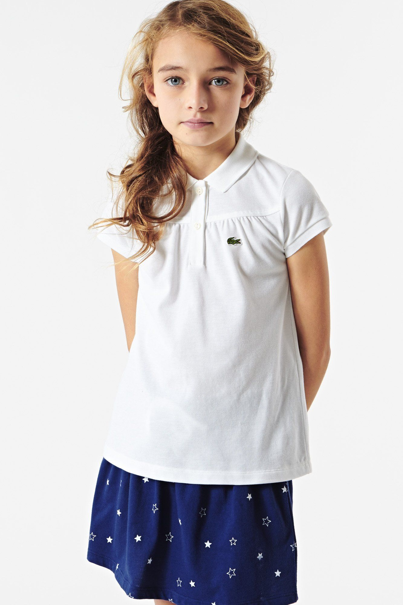 48d8c7417134b for  kids  Lacoste  white  polo   Lacoste Kids   Niños e Lugares