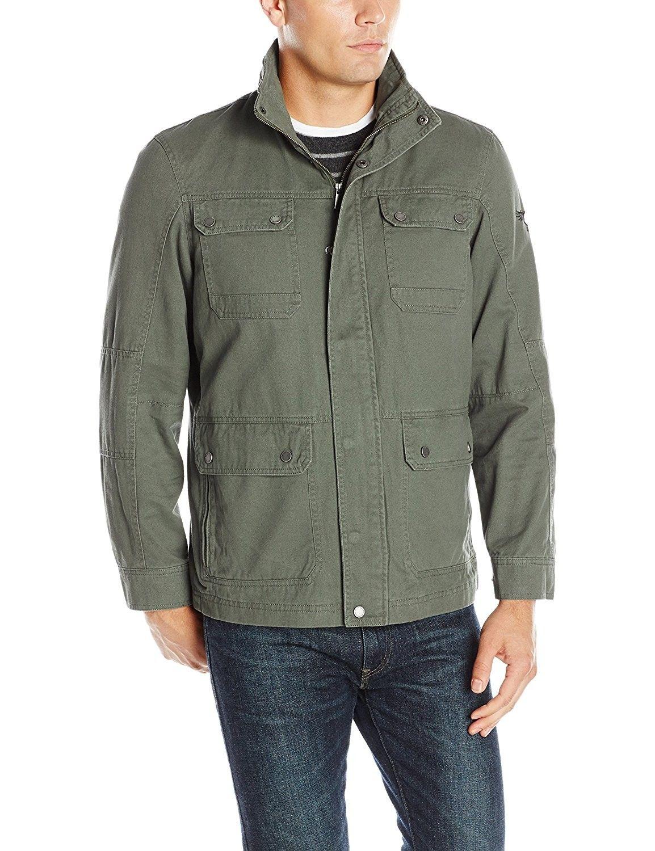 Men S 3 4 Length Utility Jacket Olive Cb12iriz9rh Utility Jacket Olive Mens Outerwear Jacket Lightweight Jacket [ 1500 x 1154 Pixel ]