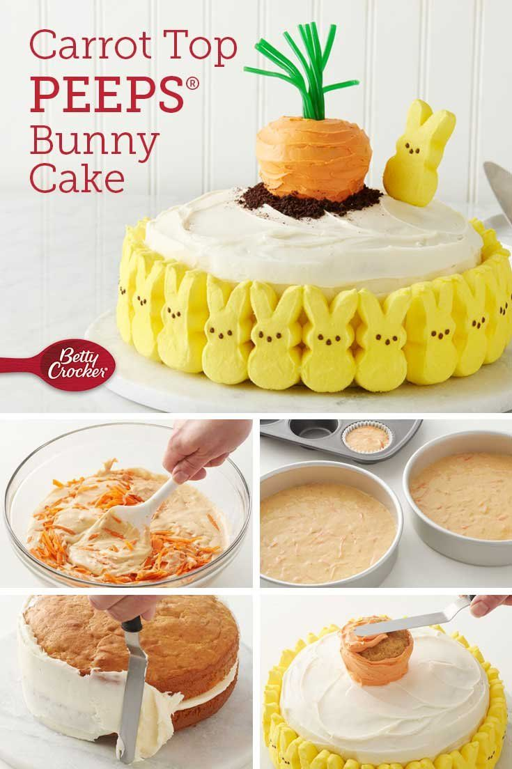 Carrot Top Peeps Bunny Cake Recipe In 2019 Easter Recipes
