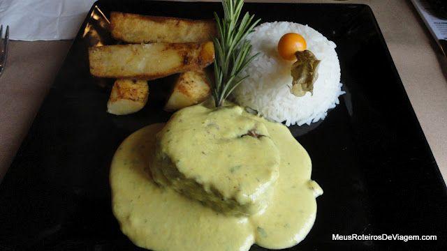 Filé ao molho de mostarda - Restaurante Pequeno Bosque - São Joaquim/SC