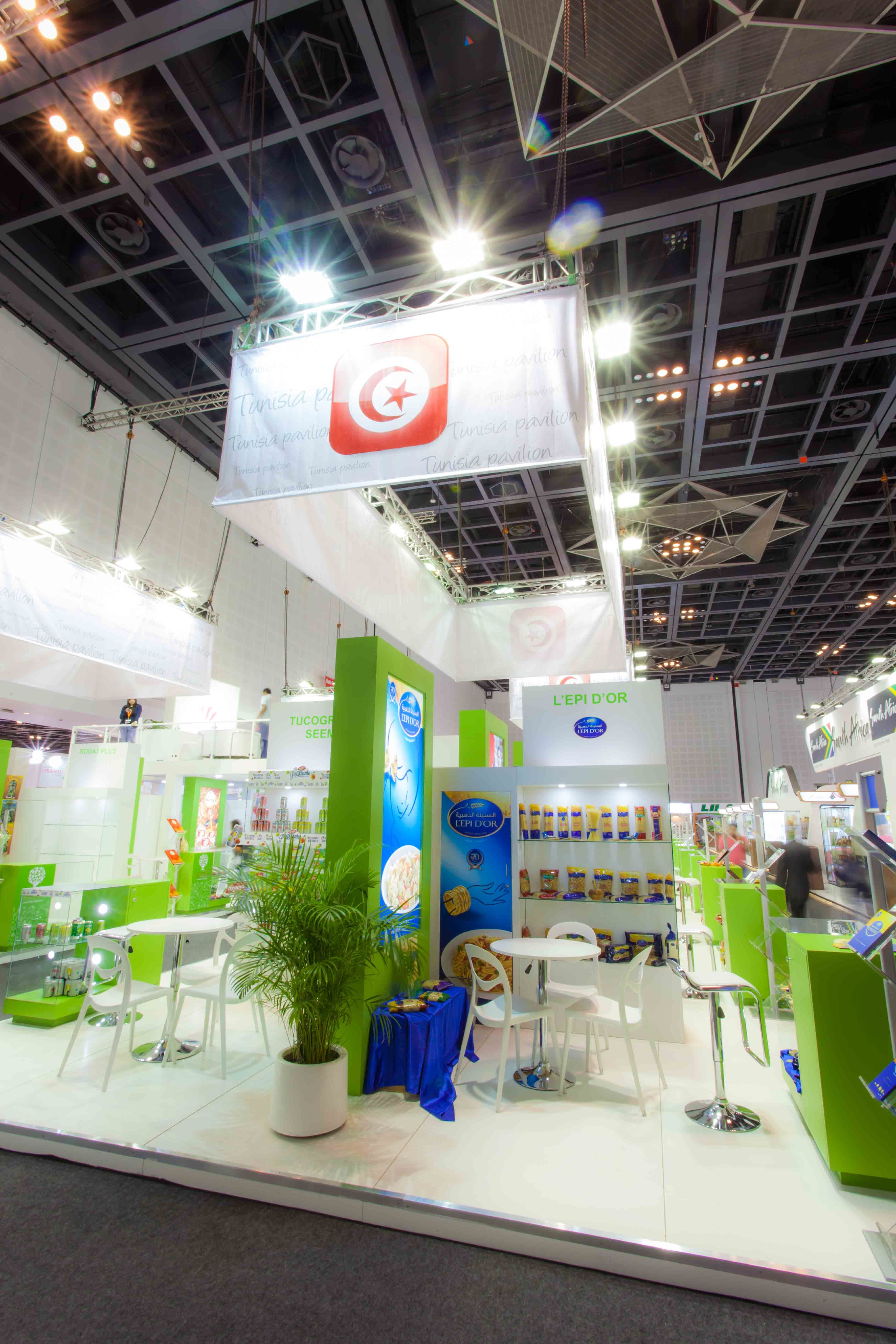 Expo Stand Banner : Tunisia exhibition stand gulfood dubai uae