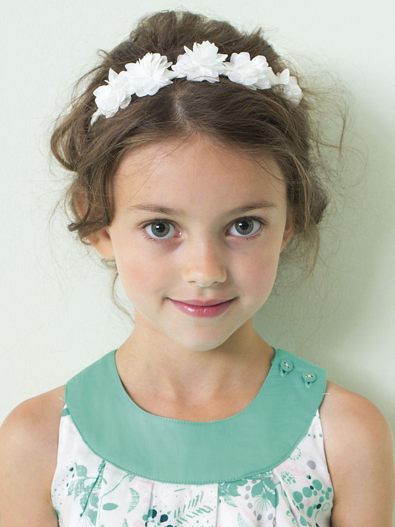 Vertbaudet Geflochtenes Mädchen Haarband Tüllblumen In Einfarbig