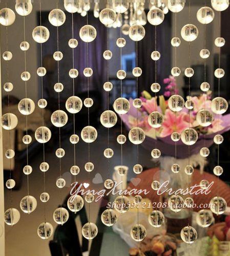 Transparent Crystal Round Pearl Crystal Bead Door Curtain