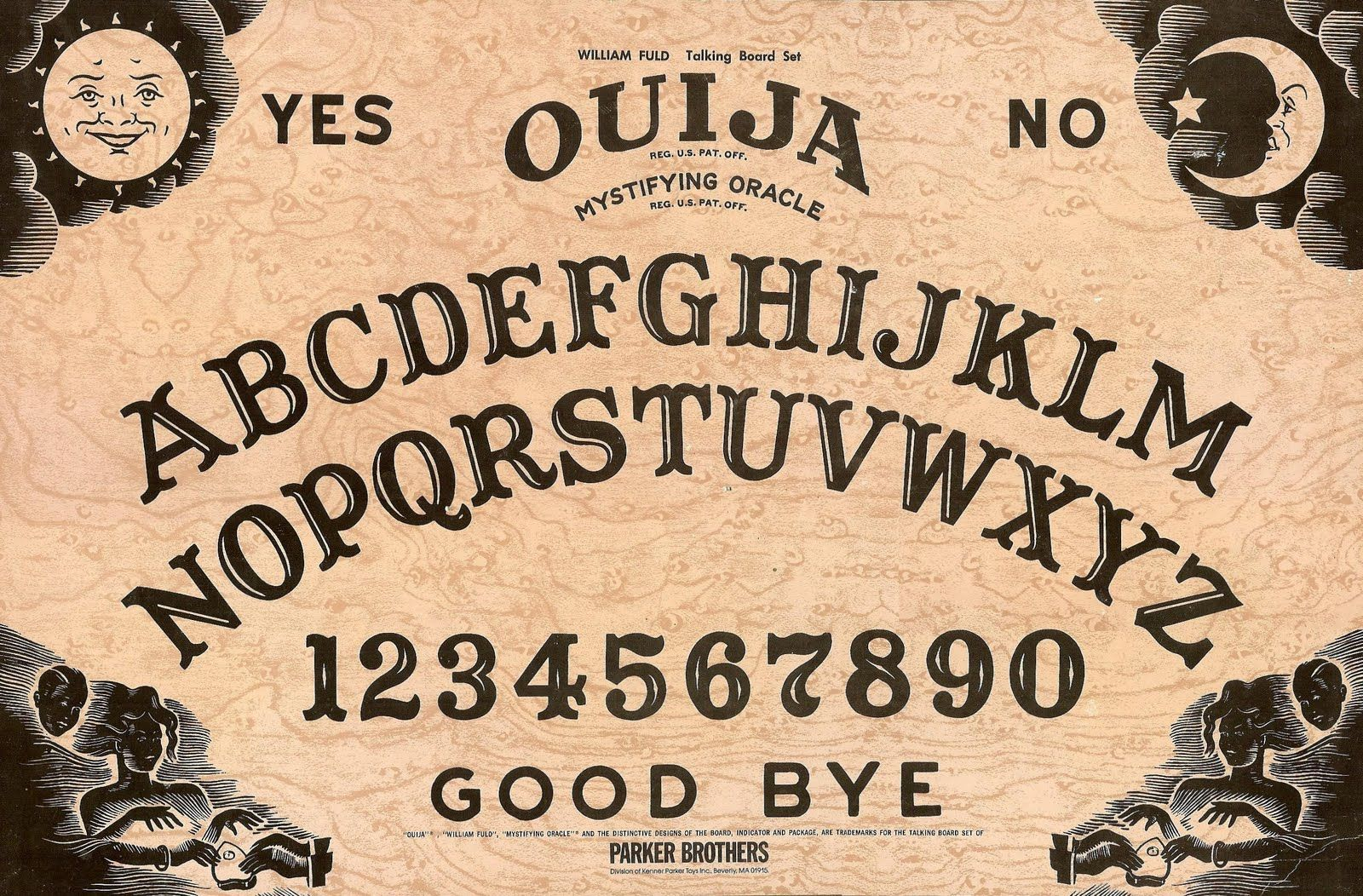 image regarding Printable Ouija Board called Ouija Board Hasbro Great Hinge Wallet Retro 1960s Ouija