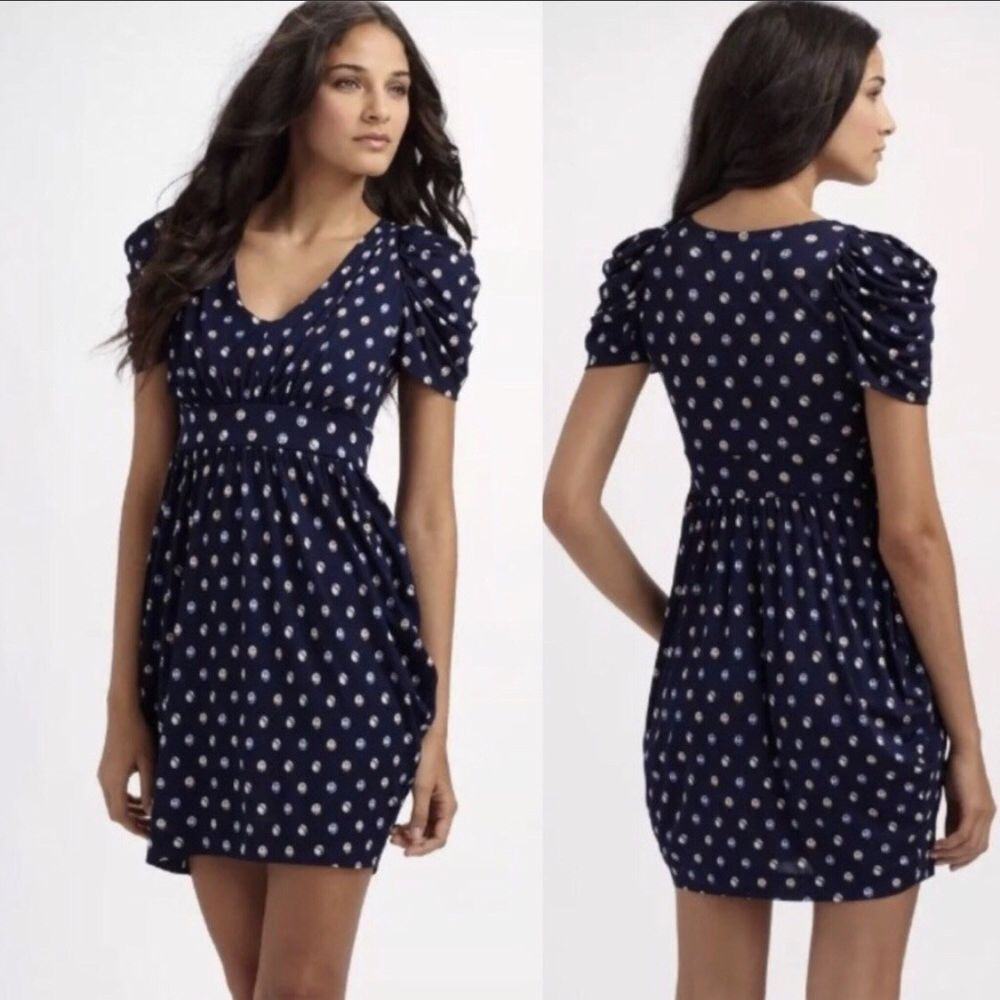 42647cc77b8a Anthropologie Leifsdottir Bubble Polka Dot Dress Size XS | ebay ...