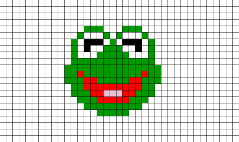 Kermit The Frog Pixel Art Brik Pixel Art Designs Pixel Art Art