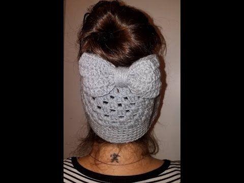 Gorro coleta a crochet | DIESTRA - YouTube | mis detalles ...