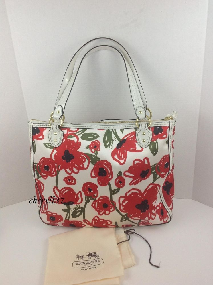 Luvable friends printed fleece blanket birds perfect purses nwt coach large poppy signature white leather trim red flowers tote bag purse purses and mightylinksfo