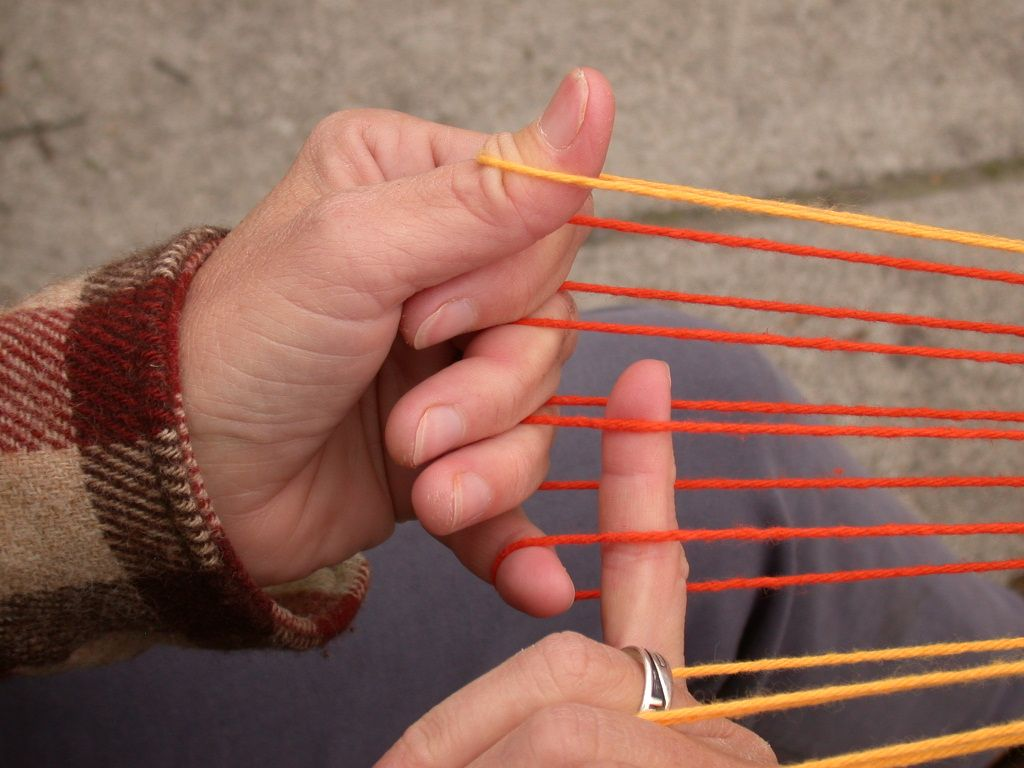 Basic intro to using your thumbs in loop braiding. Why let two whole digits go to waste? When I first was shown how to make a 5-loop square braid, the friend-of-a-friend who showed me mentioned non…
