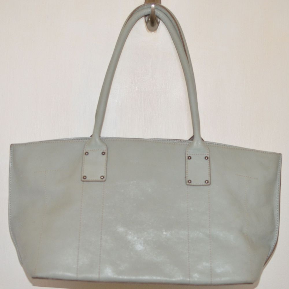 Etienne Aigner Leather Handbag Tote Powder Baby Blue