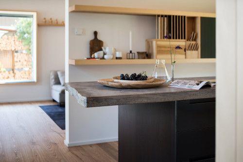 Schreinerküche arbeitsplatte in moderner schreinerküche werkhaus