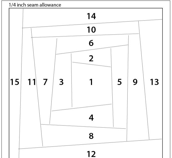 Here\'s another easy paper-piecing pattern. This is a paper-pieced ...