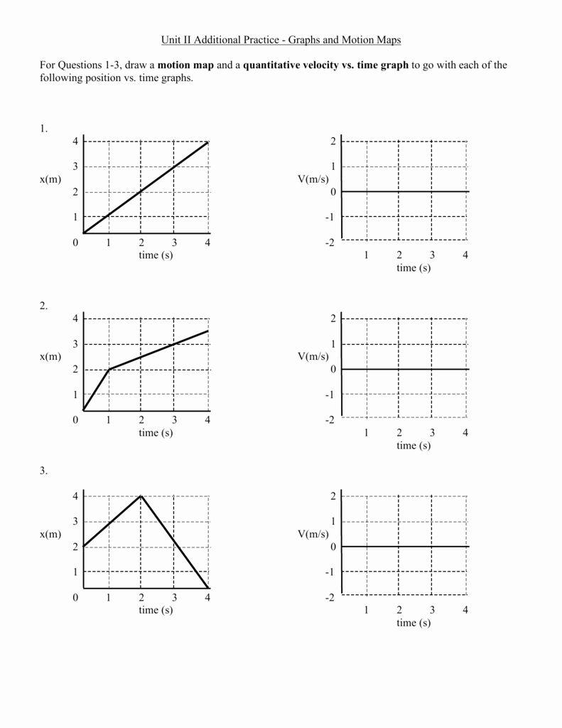 Motion Graphs Worksheet Answer Key Luxury Unit Ii ...
