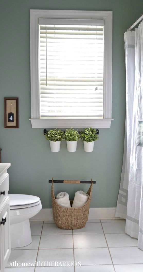 New In this bathroom renovation project Sonya of withthebarkers pletely transforms an outdated bathroom to a relaxing and modern space with a fresh coat of Picture - Beautiful relaxing bathroom colors Elegant