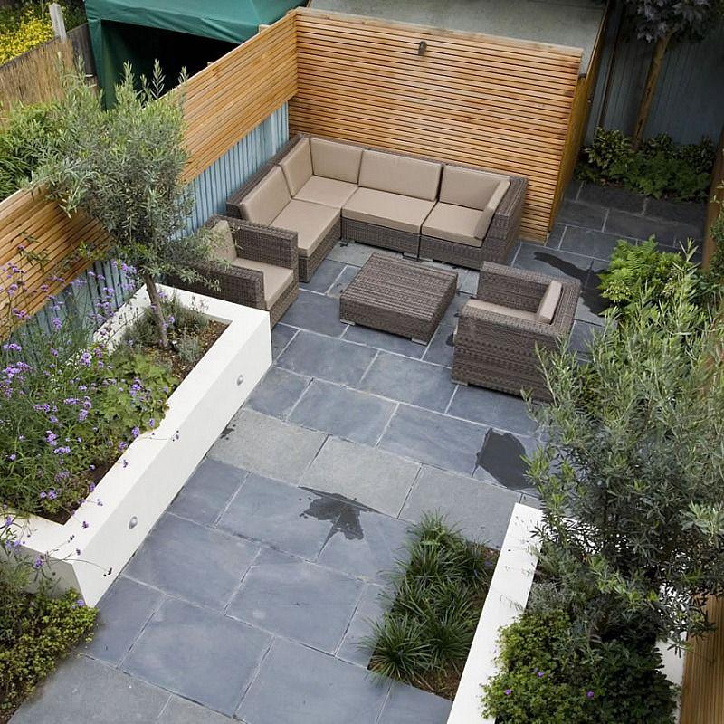 Petit salon de jardin design & végétal | #basileek #gardenbuilders ...