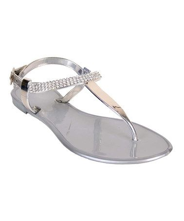 01a62dce73772 Look at this  zulilyfind! Silver Pop Rock Jelly Sandal by Nomad ...
