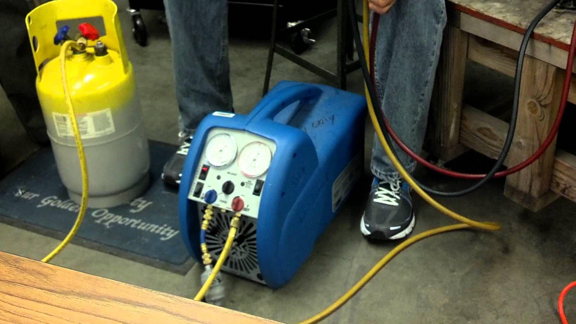 Refrigerant recovery Refrigerator repair, Hvac