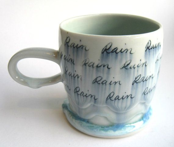 ZUR Bestellung Regen Wolke Porzellan Mug von SilverLiningCeramics, $38.00